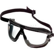 3M™ Gogglegear™ Safety Goggle With Strap & Headband, Clear Lens, Black Frame, Medium