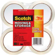 Scotch® Long Lasting Moving & Storage Packaging Tape, 48mm x 50m 4 Rolls/PK