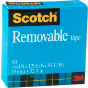 """Scotch® Removable Tape 811, 3/4"""" x 1296"""", Boxed, 1"""" Core, 1 Roll"""
