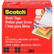 """Scotch® Book Tape 845, 1-1/2"""" x 540"""", 3"""" Core, 1 Roll"""