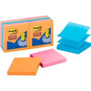 Post-it® Super Sticky Pop-up Notes R330-10SSAN, 3 in x 3 in, Assorted Neon, 10 pads/pk