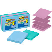 Post-it® Super Sticky Pop-up Notes R330-10SST, 3 in x 3 in Tropical Colors 90 sht/pd, 10 pd/pk