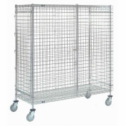 "Wire Shelf Security Truck, Poly-Z-Brite®, 24""W x 60""L x 69""H, Polyurethane, 4 Swivel Casters"