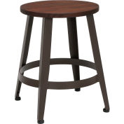 """OFM Core Collection Edge Series 18"""" Table Height Metal Stool, in Walnut (33918W-WLT)"""