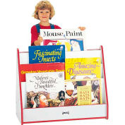 Jonti-Craft® Rainbow Accents Big Book Mobile Pick-a-Book Stand - 1 Sided - Gray Top/Red Edge