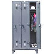Strong Hold® Heavy Duty Slim-Line Locker 36-18-1TSL - Single Tier 38x18x78 3 Door