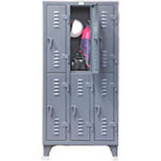 Strong Hold® Heavy Duty Slim-Line Locker 36-18-2TSL - Double Tier 38x18x78 6 Door
