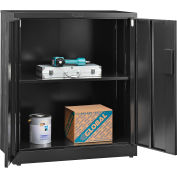 "Global Industrial™ EZ Assemble Steel Storage Cabinet 36""W x 18""D x 42""H Black"