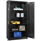 "Global Industrial™ EZ Assemble Steel Storage Cabinet 36""W x 18""D x 72""H Black"