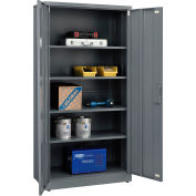 "Global Industrial™ EZ Assemble Steel Storage Cabinet 36""W x 18""D x 72""H Gray"