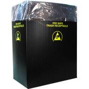2.00 Mil Static Dissipative Trash Can Liner, 36 Gallon, Pink, Pkg. Qty. 50 - 37823