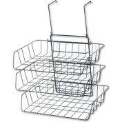 Fellowes® Wire Partition Additions 3-Tray Organizer, Black