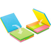 "Post-it® Notes Fold & Flip Cube 2055FC1, 3"" x 3"", Neon, 50 Sheets, 6/Pack"