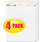 "Post-it® Easel Pads Self-Stick Easel Pads 560VAD4PK, 25"" x 30"", White, 30 Sheets, 4/Pack"