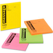 "Post-it® Super Sticky Message Pads 76794SS, 3-7/8"" x 4-7/8"", Neon, 30 Sheets, 200/Pack"