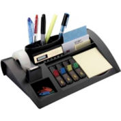 3M® Desk Organizer Kit Including Post-It Notes, Post-It Flags & Scotch Tape Black