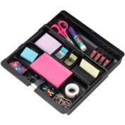 "3M® Desk Drawer Organizer 12"" x 10-11/16"" Black"