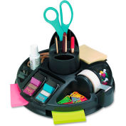 3M® Rotary Desktop Organizer Kit Including Post-It Notes, Post-It Flags & Scotch Tape Black