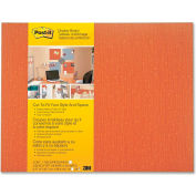 "3M™ Cut-To-Fit Office Display Board, 18""W x 23""H, Tangerine, 1 Each"