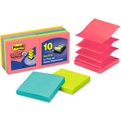 "Post-it® Pop-up Notes Super Sticky Pop-Up Notes R33010SSAU, 3"" x 3"", 90 Sheets, 10/Pack"