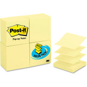 "Post-it® Pop-up Notes Pop-Up Note Refills R33024VAD, 3"" x 3"", Yellow, 100 Sheets, 24/Pack"