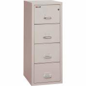 "Fireking Fireproof 4 Drawer Vertical File Cabinet - Letter Size 18""W x 25""D x 53""H - Light Gray"