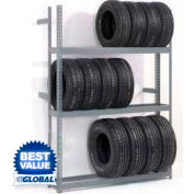 "3 Tier Single Entry Tire Rack 60""W x 18""D x 84""H"