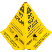 """Global Industrial™ """"Do Not Stack"""" Printed Pallet Cones, Yellow, Pack of 50"""