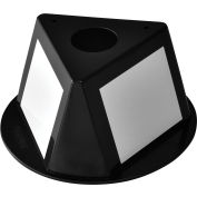Inventory Control Cone with Dry Erase Decals - Black