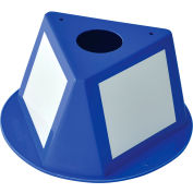 Global Industrial™ Inventory Control Cone W/ Dry Erase Decals, Blue