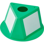 Inventory Control Cone with Dry Erase Decals - Green