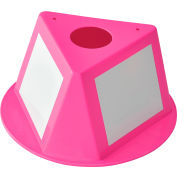 Inventory Control Cone with Dry Erase Decals - Hot Pink