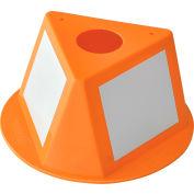 Global Industrial™ Inventory Control Cone W/ Dry Erase Decals, Orange