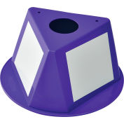 Inventory Control Cone with Dry Erase Decals - Purple