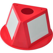 Global Industrial™ Inventory Control Cone W/ Dry Erase Decals, Red