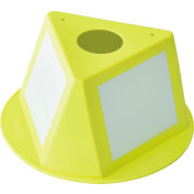 Global Industrial™ Inventory Control Cone W/ Dry Erase Decals, Yellow