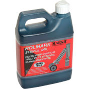 Marsh® 20903 Rolmark Stencil Ink, 1 Quart, Black