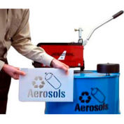 Newstripe Aerosol Stencil For Collection Drums, Recycle Symbol & Can Image, 1004132