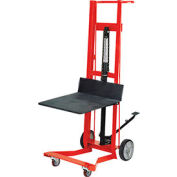 Wesco® Foot Pedal Platform Lift Truck 260010 Four Wheel Style 750 Lb. Cap.