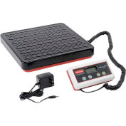 Pelouze FG404088 Digital Receiving Scale with Remote Display, 400lb x 0.5lb, Black/Red/White