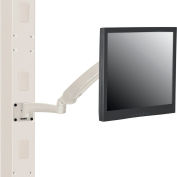 Global Industrial™ Gas Spring LED/LCD Flat Panel Monitor Arm with VESA Plate, Beige