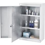 Global Industrial™ Large Narcotics Cabinet, Double Door/Double Lock, Stainless Steel