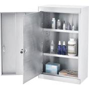 "Global Industrial™ Stainless Steel Narcotics Cabinet W/Double Door/Double Lock, 18""Wx10""Dx30""H"