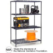 "Nexel® DS24367N - Heavy Duty Wire Shelving 36""W x 24""D x 74""H"