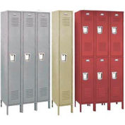 Penco 6115R-1-736KD Vanguard Locker Recessed Single Tier 12x18x60 1 Door Unassemble  Burgundy