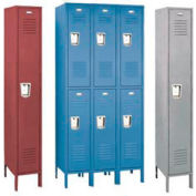 Penco 68331R028-SU Recessed Handle Triple Tier Locker 12x12x24 Assembled 1 Wide Gray