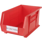 "Aigner Tri-Dex TR-1754 Slide-In Label Holder 1-3/4"" x 4"" for Stacking Bins, Price per Pack of 25"