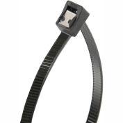 "Gardner Bender 46-308UVBSC 8"" Self-Cutting Cable Ties, Black, 50lb, 50/pk, 2"" Max Dia, Twist Tail"