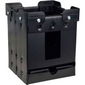"Protektive Pak Plastek Vertical 7"" Reel Storage 47205 Stacking Corners 8-1/4""L x 8-1/4""W x 10-1/4""H - Pkg Qty 5"