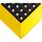 """Wearwell® Industrial WorkSafe® GR Drainage Mat 5/8"""" Thick 3' x 4' Black/Yellow Border"""